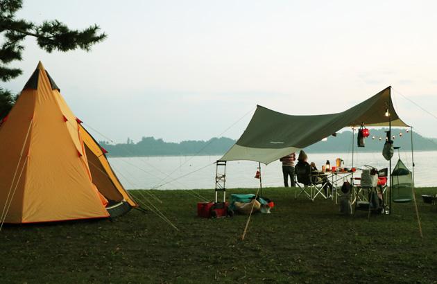 茨城町 親沢公園のキャンプ場