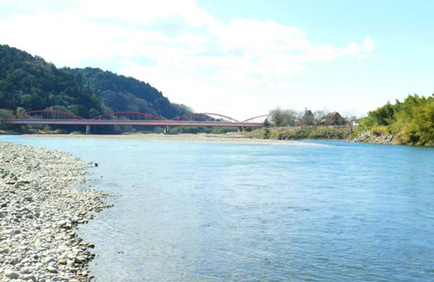 城里町 御前山と那珂川