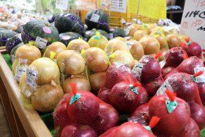 農産物直売所の野菜の写真